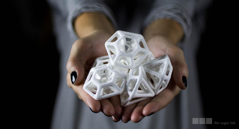 3Dプリンターで作る砂糖のお菓子