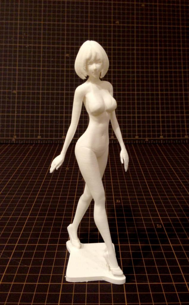 3Dフィギュア「hanako」の奇麗な3Dプリント