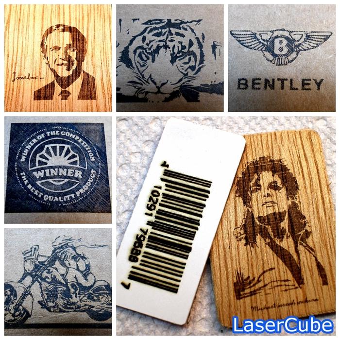 安価なレーザーカッターで木材に刻印