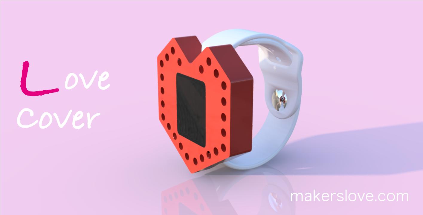 ハート型のApple Watchカバー