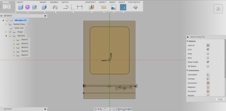 Rectangleで外形を書く 「Rectangle」を使って、オールドMacの外形を書いていき