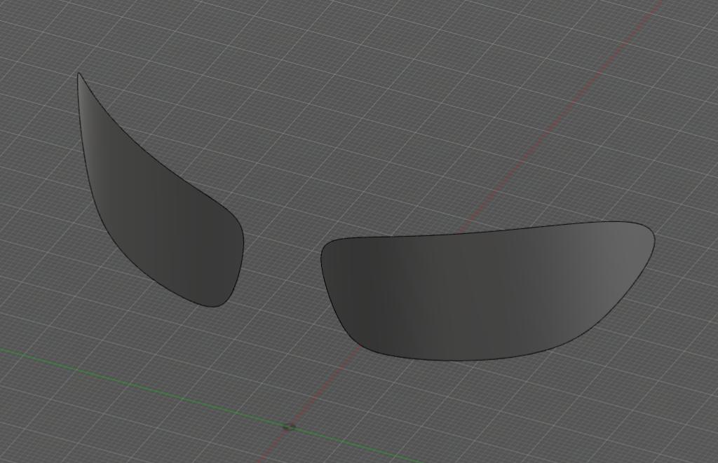 ベースとなるメガネの面