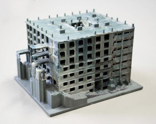 軍艦島の建物を3Dプリント