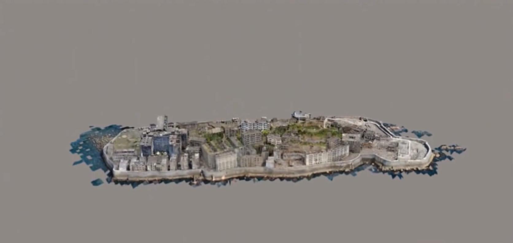 軍艦島の3Dプリントデータ