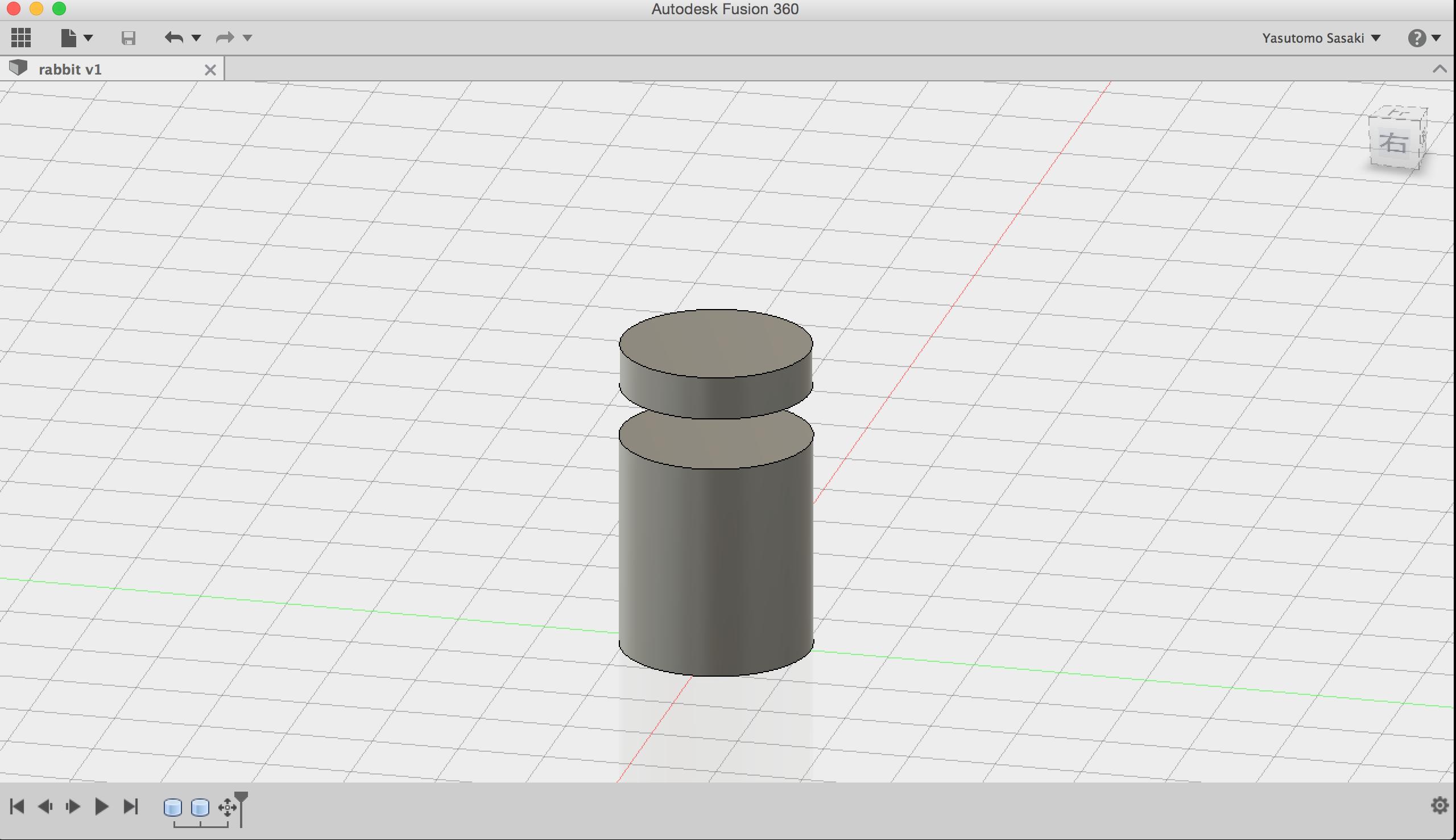 Fusion 360で円柱を作る