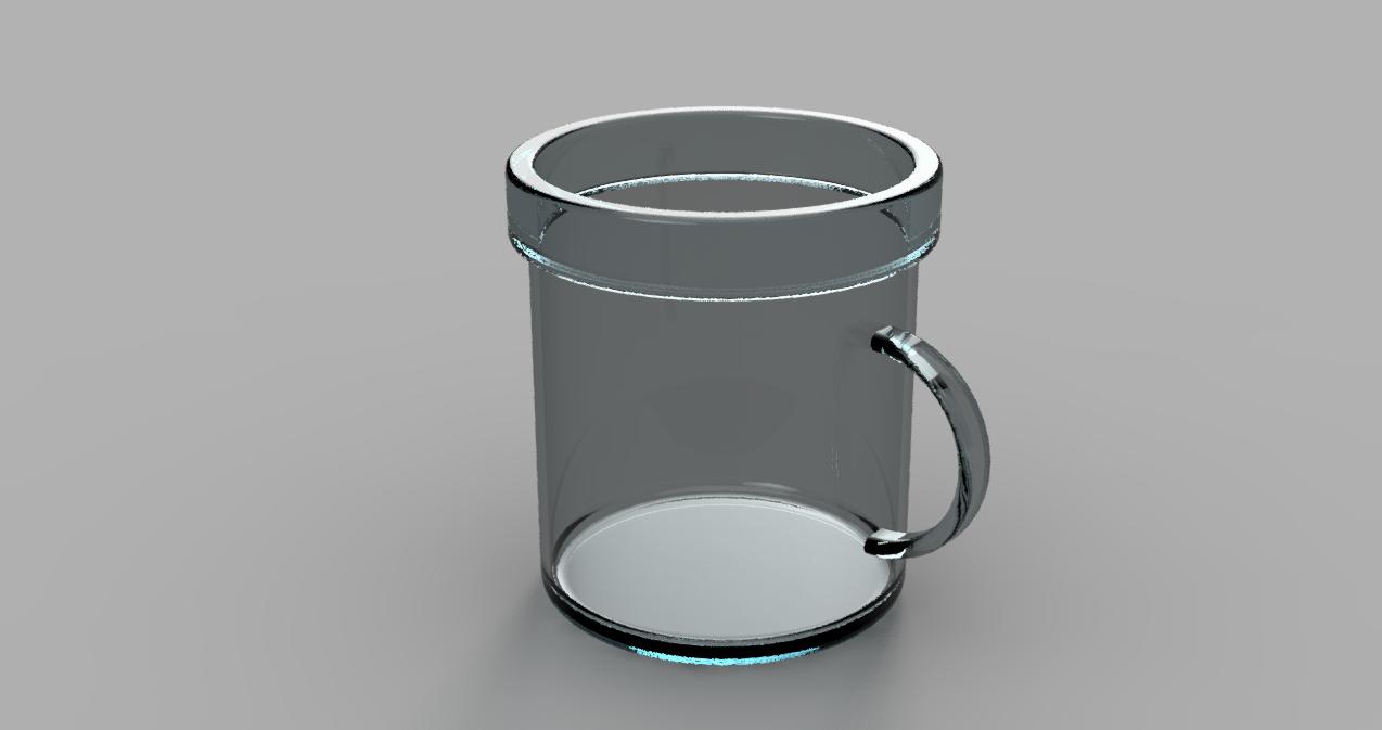 Fusion360の円柱で作ったコップ