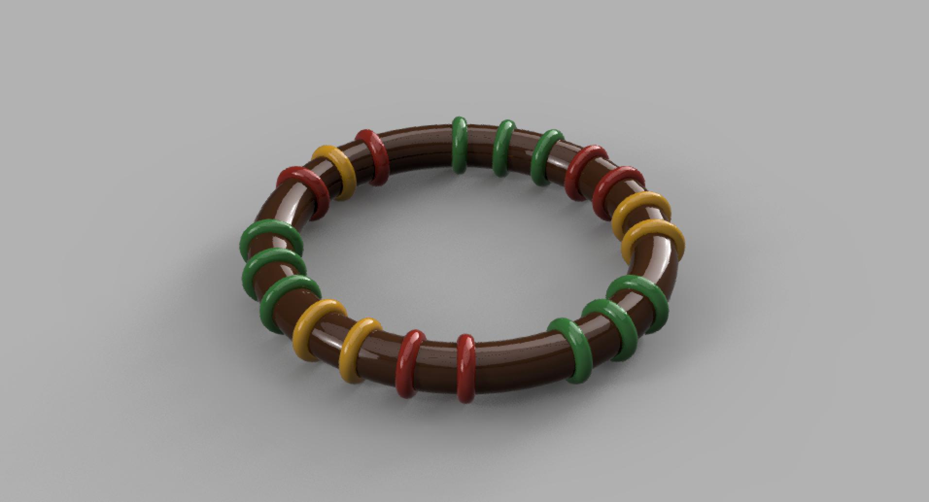 トーラスでアフリカンな腕輪