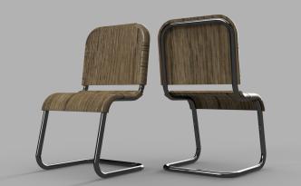 Fusion360で作ったパイプ椅子