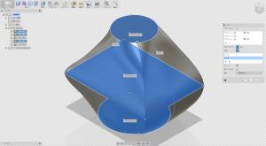 Fusion360で複数のレールを適用