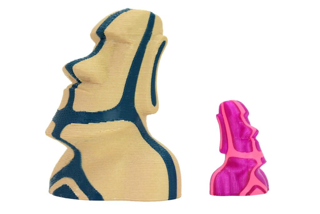3Dプリンターの2色造形