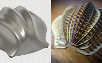 3Dデータをレーザーカッターで加工