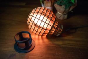 電球型デスクライト