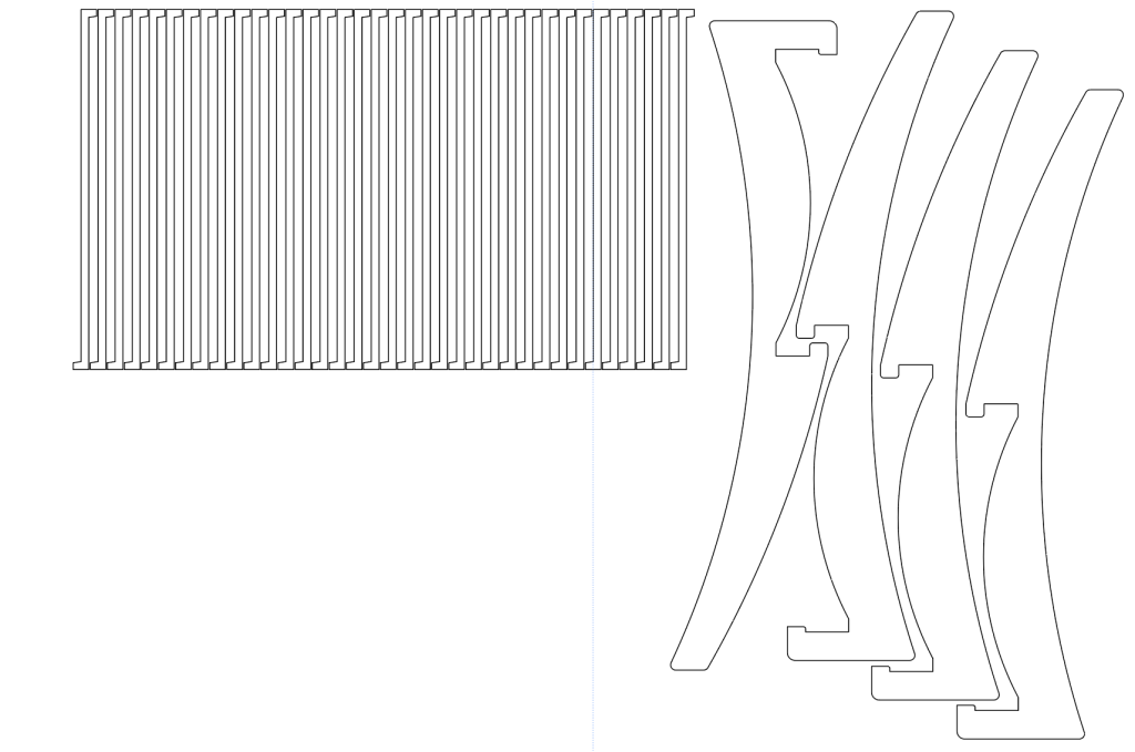 レーザー加工するAIデータ