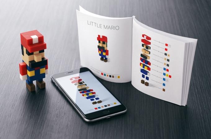 磁石の玩具PIXIOで作ったマリオ