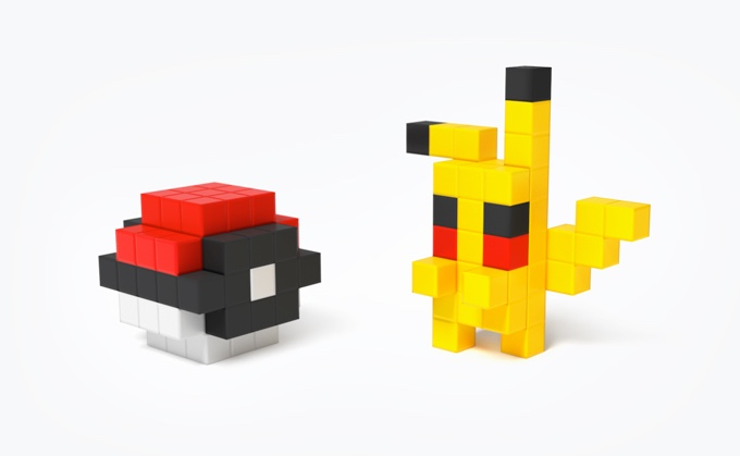 磁石の玩具PIXIOで作ったポケモン