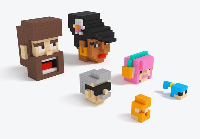 磁石の玩具PIXIOで作った顔