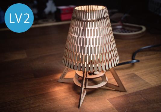 円錐台のテーブルランプ