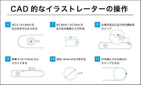 CAD的なイラストレーターの操作