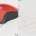 Fusion360の3Dスケッチとパッチで作ったマウス