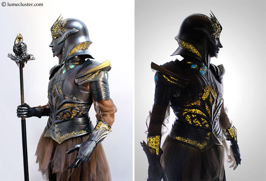 3Dプリントで作られた鎧