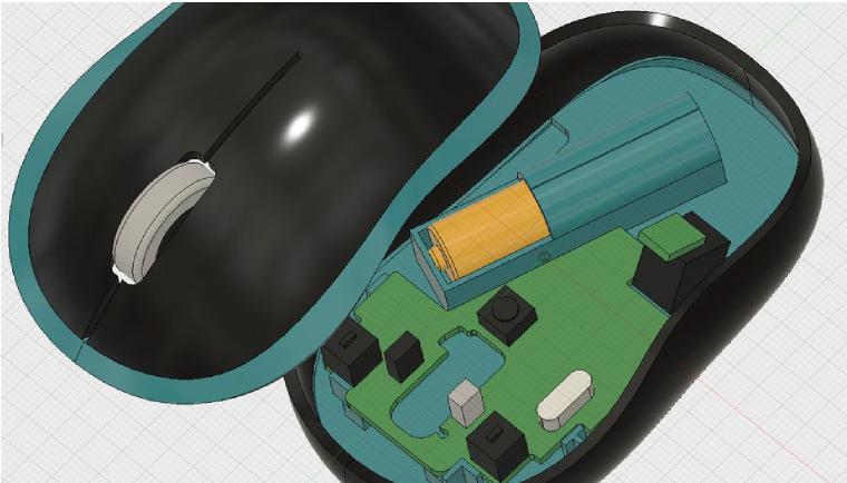 マウスの中に回路を組み込む