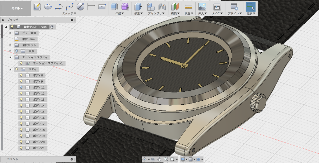 Fusion360で作った腕時計