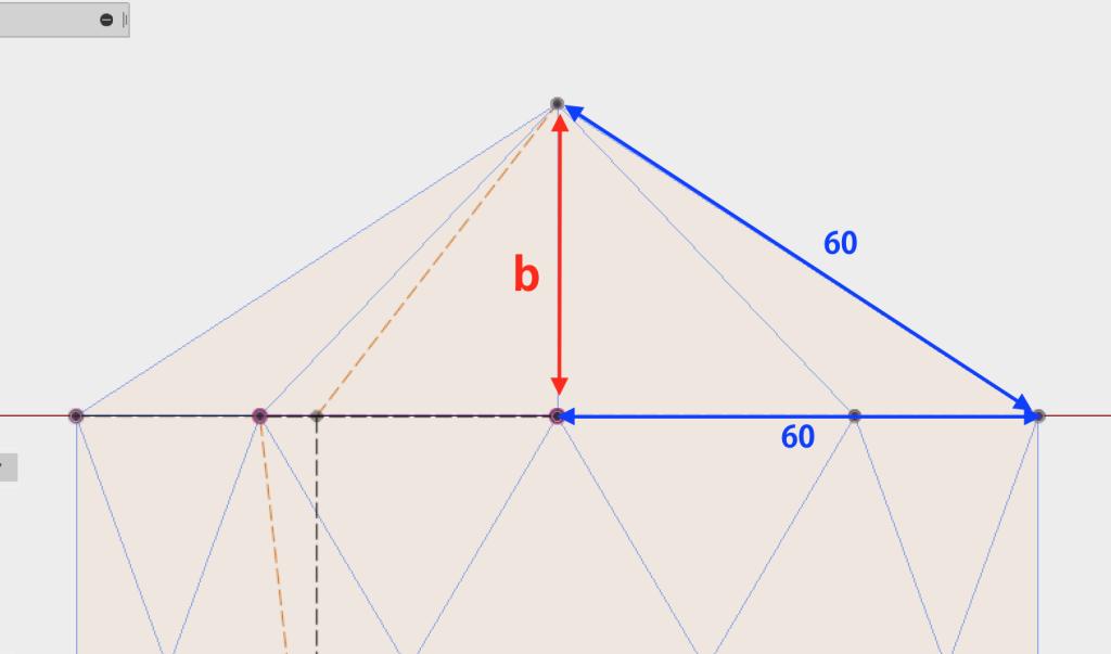 bの寸法を計算する