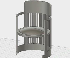 Fusion360で作ったバレルチェア
