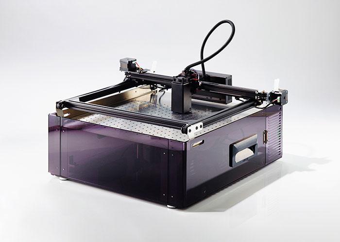 FABOOLLaserMiniを集塵機に装着した状態