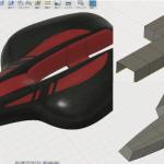 Fusion360のスカルプトで作ったサドル