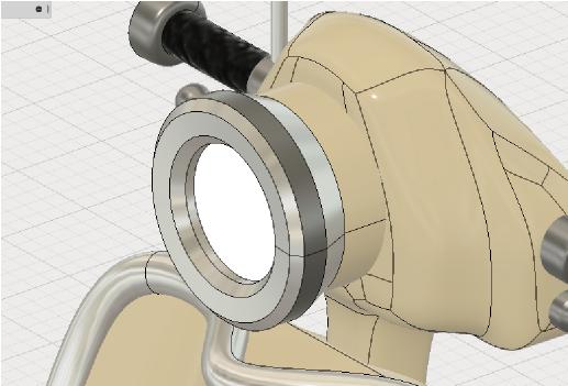 有機的な形状と機械部分を組み合わせる