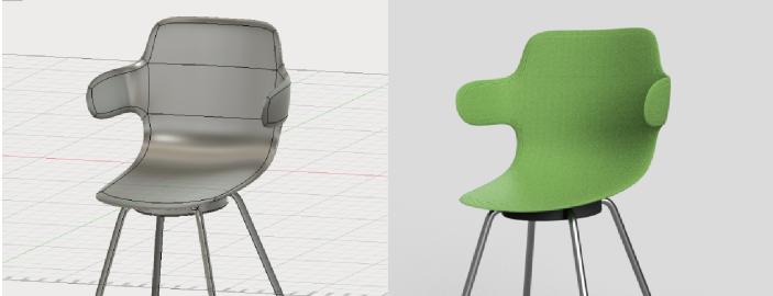 スカルプトで作った椅子