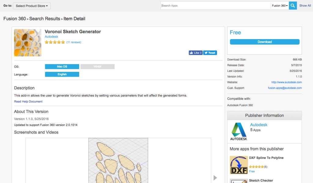 Fusion360 App Storeでプラグインをダウンロード