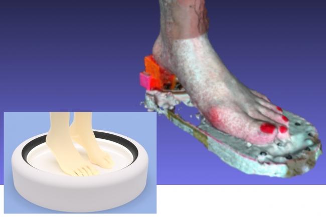 足のサイズを測るIOT端末