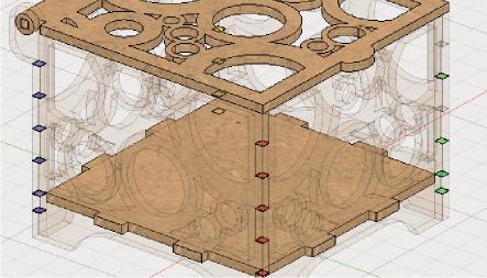 Fusion360の機能で、レーザーカットの板厚やクリアランスを一括変更する