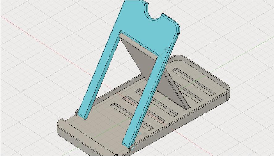 Fusion360で可動する折りたたみスマホスタンド
