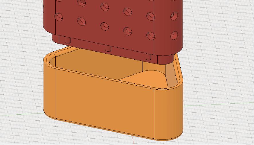 蓋をしめて固定する構造