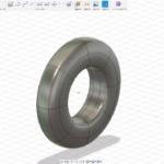 Fusion360のスカルプトで、タイヤを作る