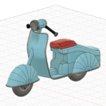 スカルプトでバイクを作る