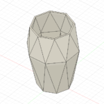 Fusion360のサーフェイスでダイヤ型の花瓶を作る