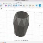 Fusion360のサーフェイスでダイヤ型の花瓶の完成