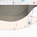 スプラインにフィット点を入れて曲面を作る