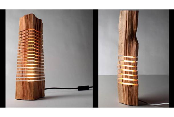 木のランプ