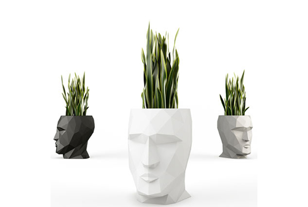 モアイの植木鉢