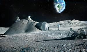 3Dプリンターの月面基地