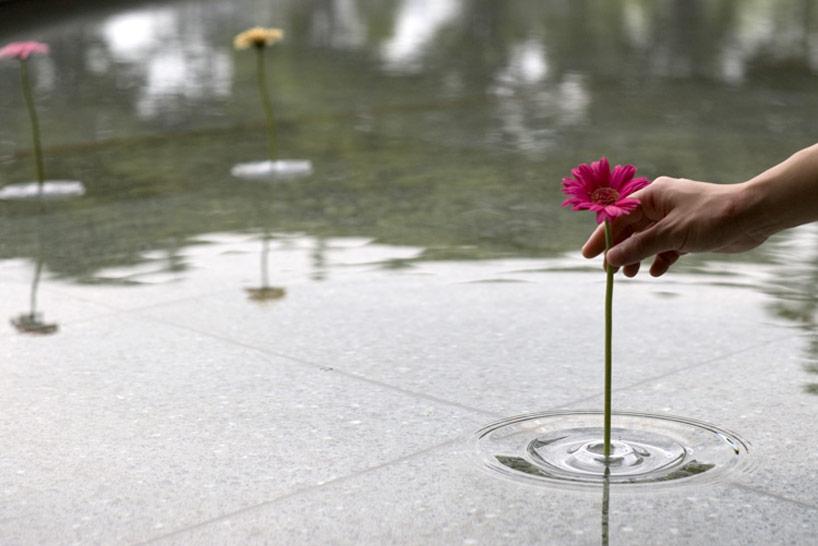 水面 花を挿す