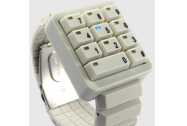 テンキー型の時計