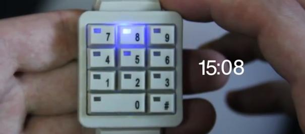 テンキー型の時計の使い方