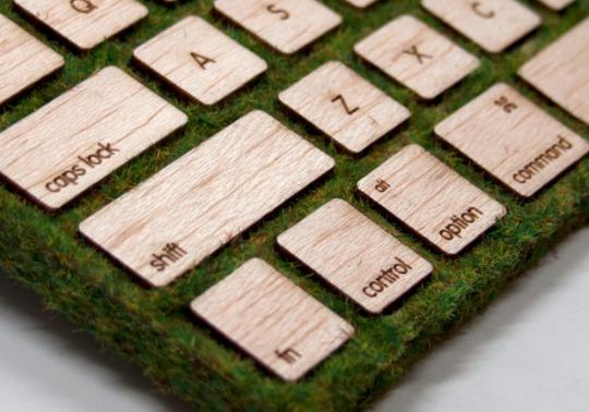 植物を使ったキーボード