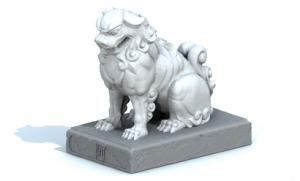 3Dデータの狛犬